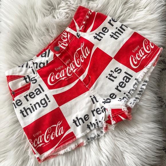 Coca Cola Pants - Coca Cola Shorts High Waisted NWOT!